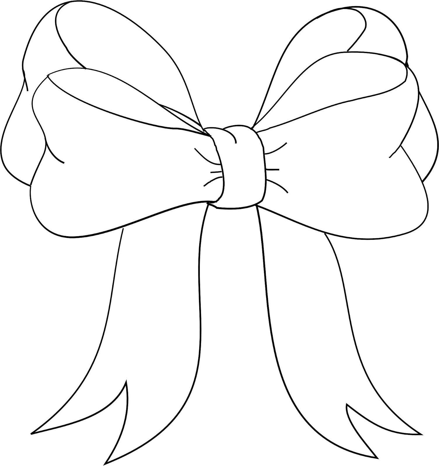 This is a photo of Gutsy Bow Template Printable