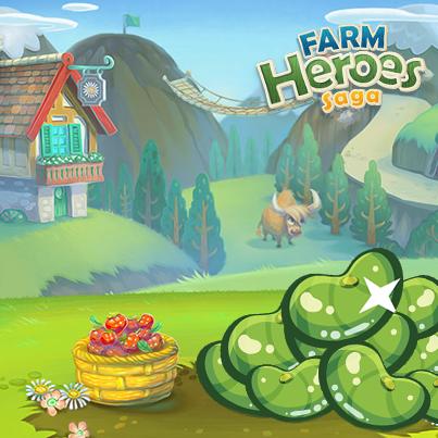 judías mágicas en Farm Heroes Saga