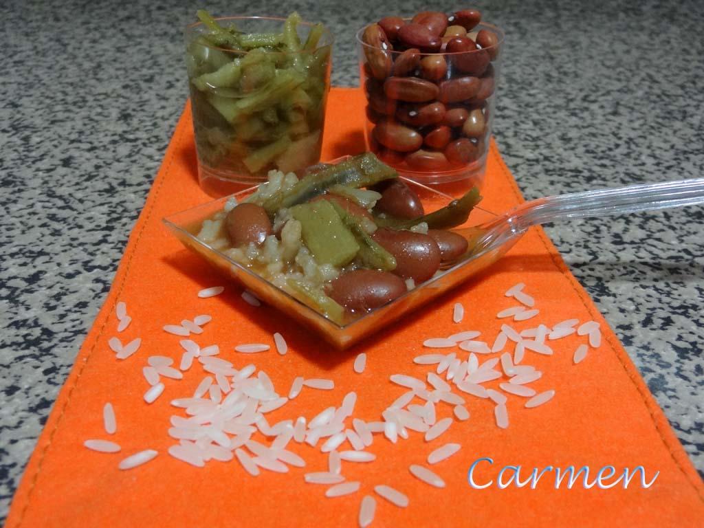 Caprichos sin gluten judias pintas con arroz y cardillos - Judias pintas con manitas ...