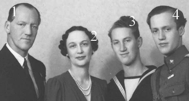 Axel, Margaretha, Flemming et Geoge de Danemark