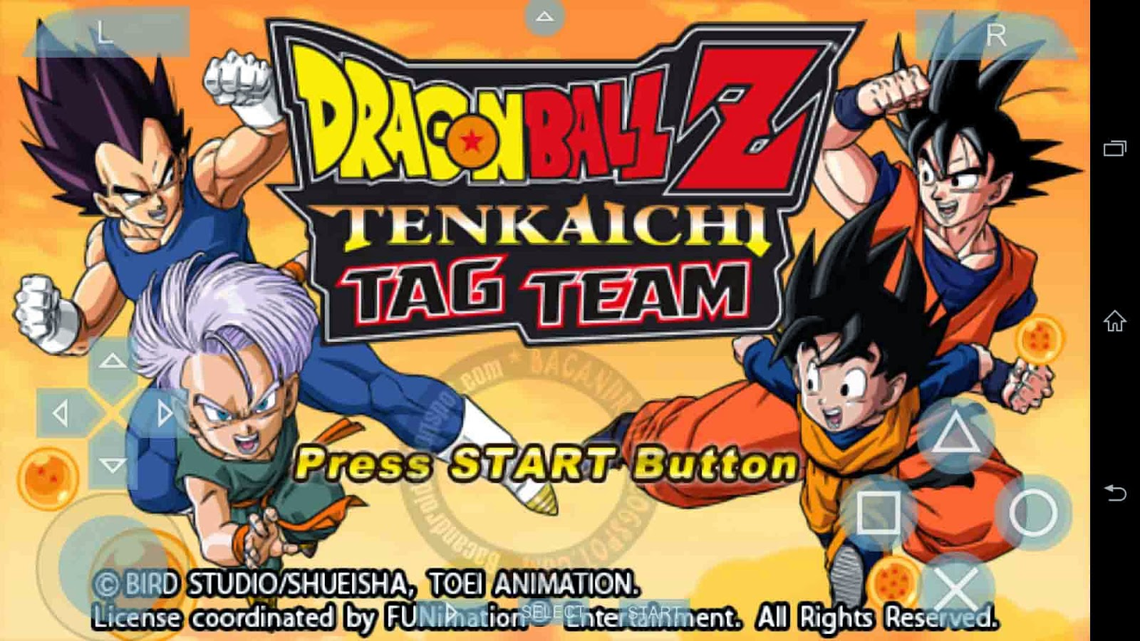 Download Game Dragonball Z Tenkaichi Tag Team PSP Android