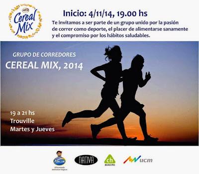 Cereal Mix lanza su grupo de corredores en Montevideo (inicio: 04/nov/2014)