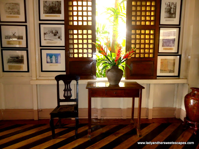 antique chairs and windows at Hotel Alejandro Tacloban