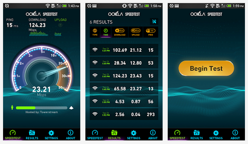 speedtest android uygulaması