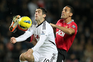 Swansea City Vs Mannchester United Rio Ferdinand