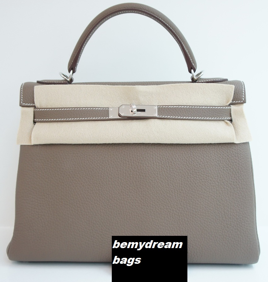 Bemydreambags: Hermes kelly 32 togo etoupe with palladium hardware