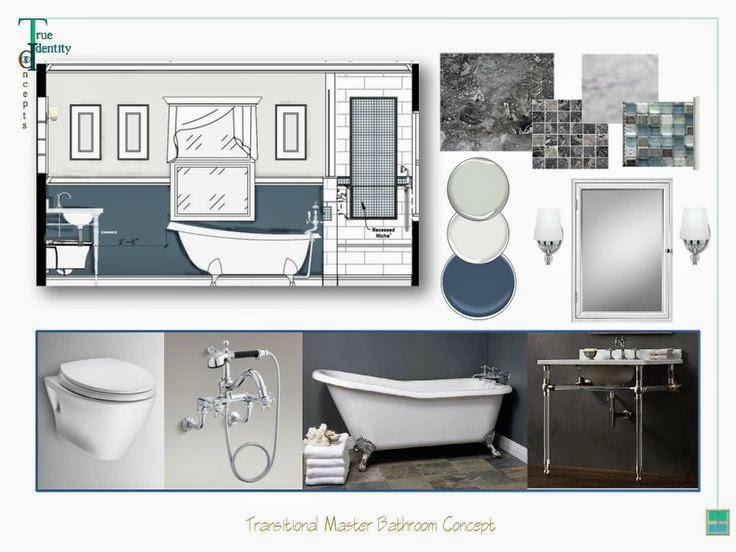 Home improvement projects Interior design bathroom concept board