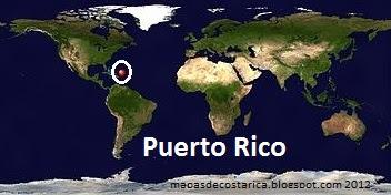 Mapa de Puerto Rico (planisferio)