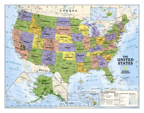 United States Physical Features Map For Kids