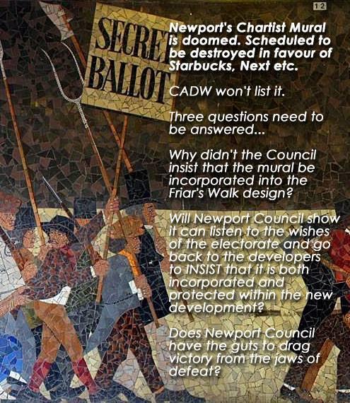 Yr aflonyddwch mawr yr aflonyddwch mawr statement on for Chartist mural newport
