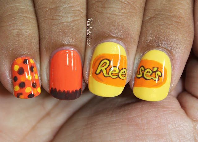 Reese's peanut butter nails