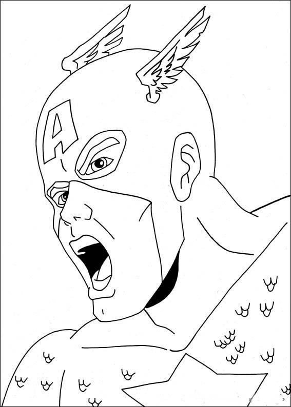 Captain America Para Pintar | www.imagessure.com