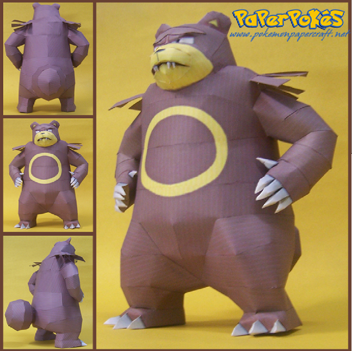 Pokemon Ursaring Papercraft