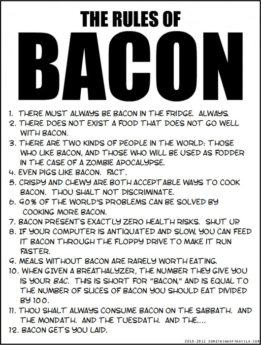 Can we have a new witch ours melted bacon and i don 39 t for Rule of three meaning