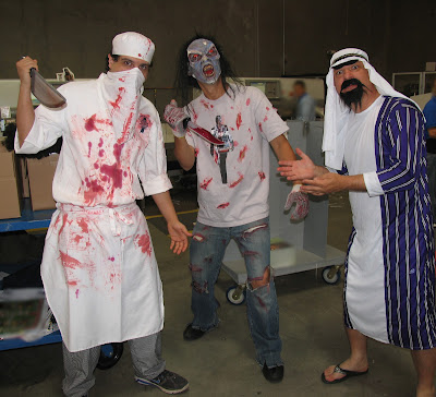 GotPrint halloween 2011 costumes arab, butcher