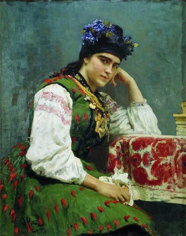 Илья Репин. Портрет С.М.Драгомировой. 1889 г.