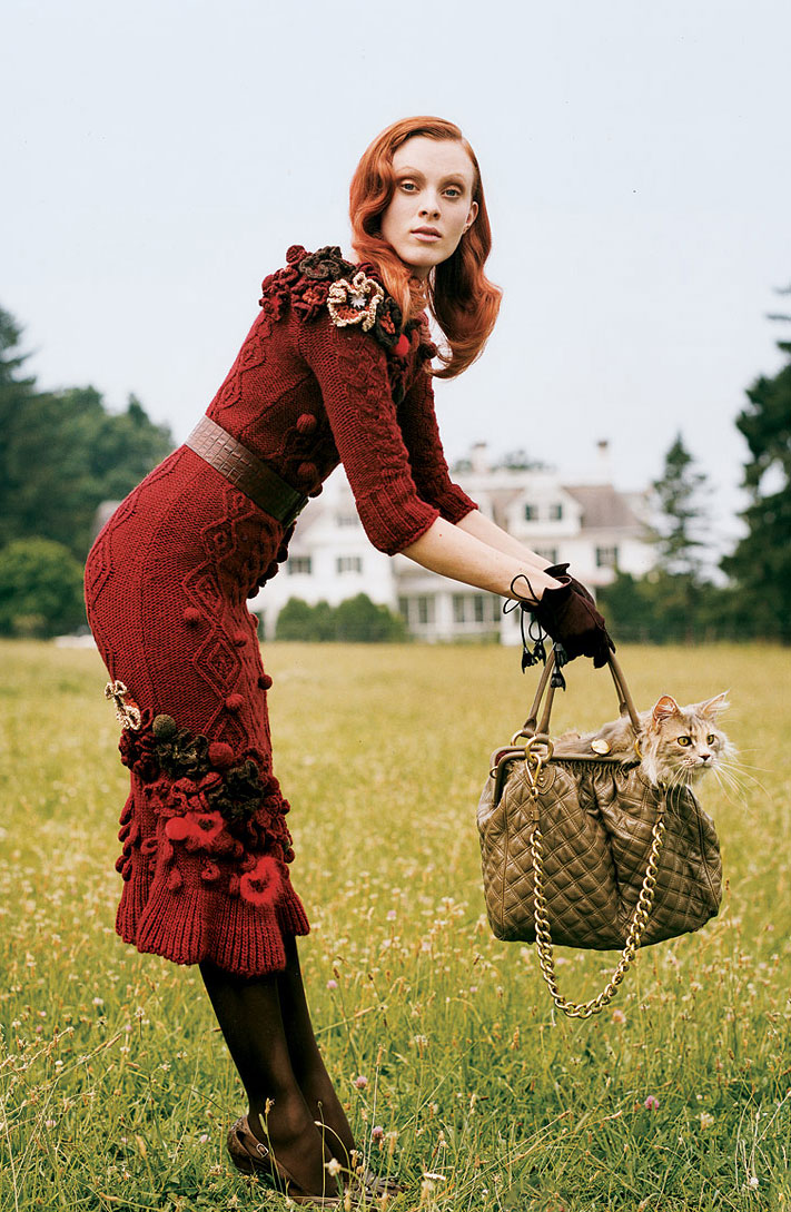Karen Elson in Fuzzy logic | Vogue US September 2005 (photography: Tim Walker, styling: Tabitha Simmons)