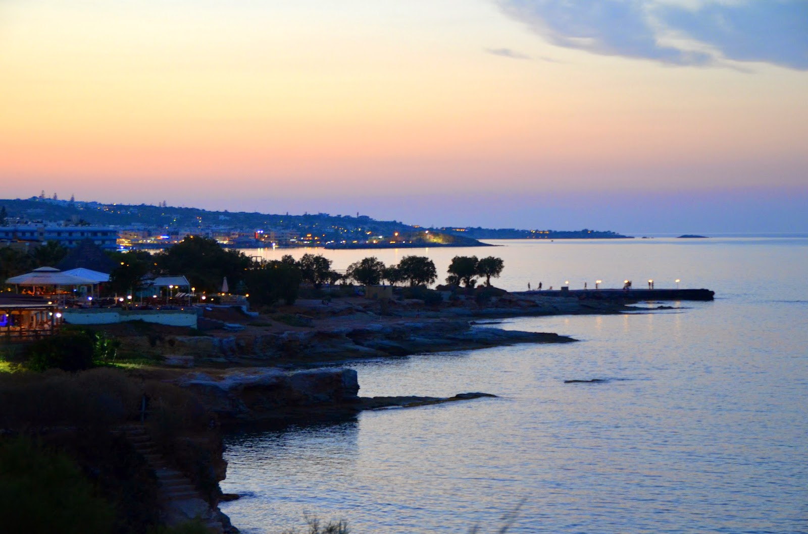 hersonissos beach night view