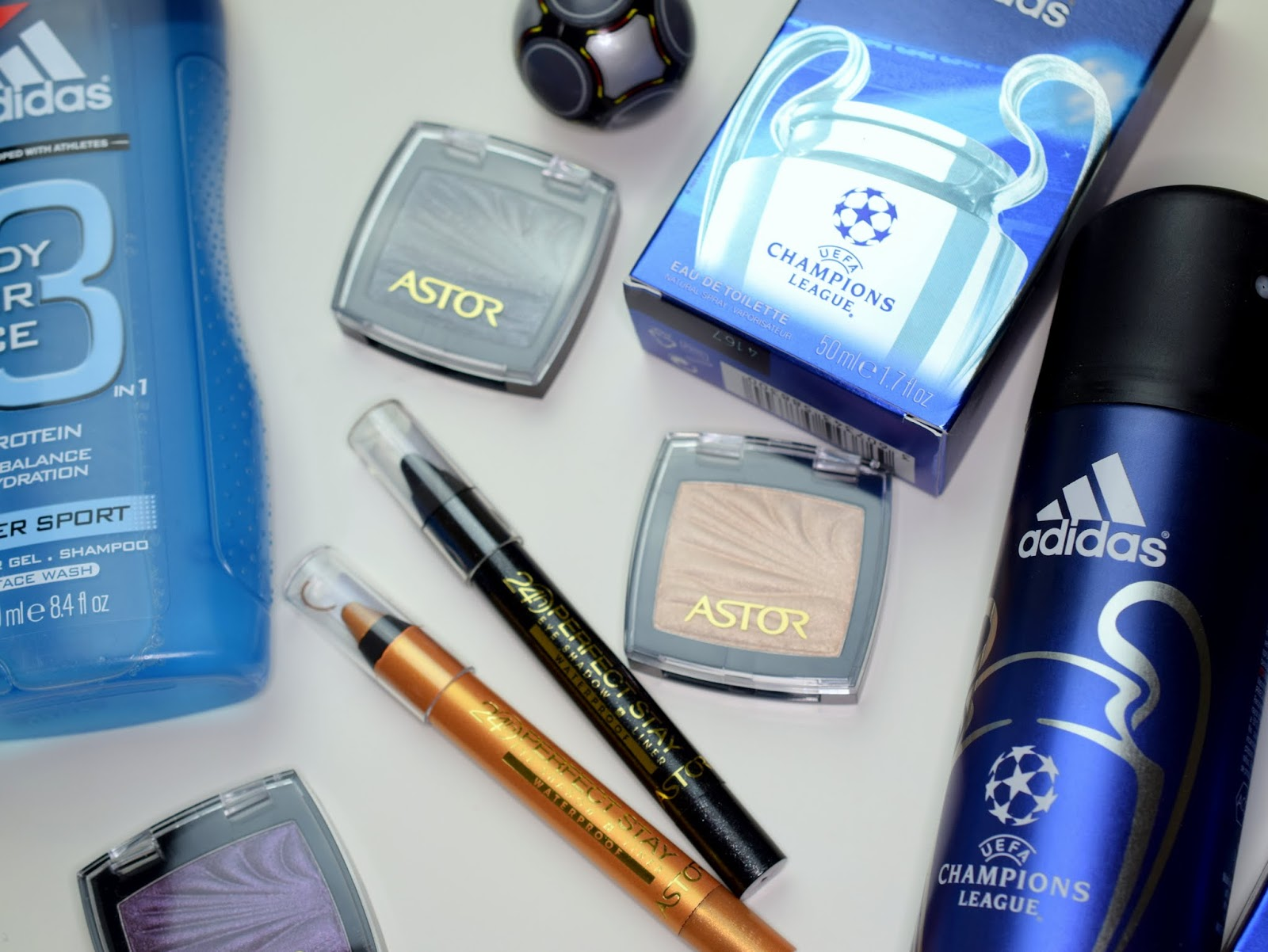 Beautypaket für Sie und Ihn - Astor Color Waves Eye Shadow und adidas Body Care