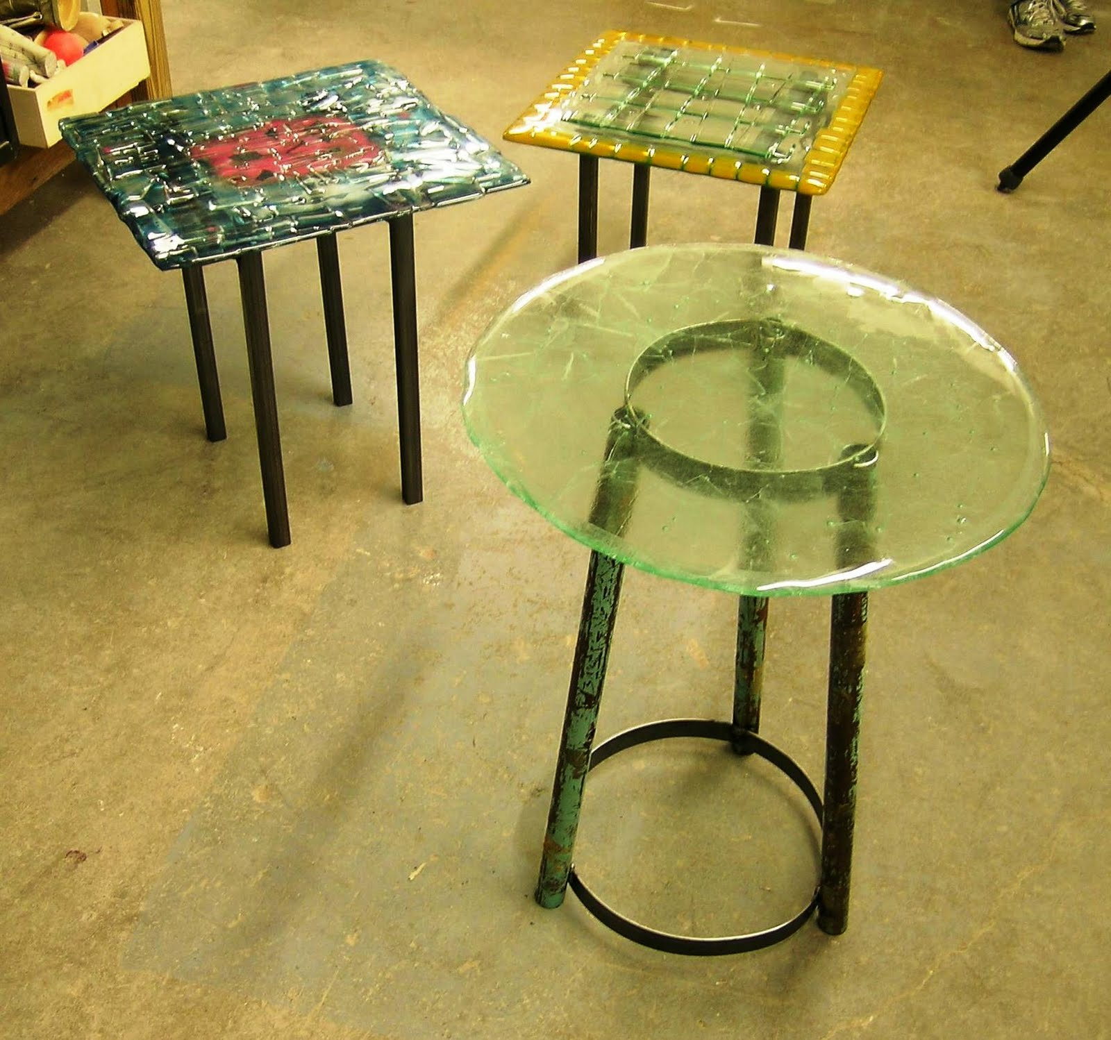 table recycled materials. Making Functional Art From Recycled Materials Class | Washington Glass Studio Table