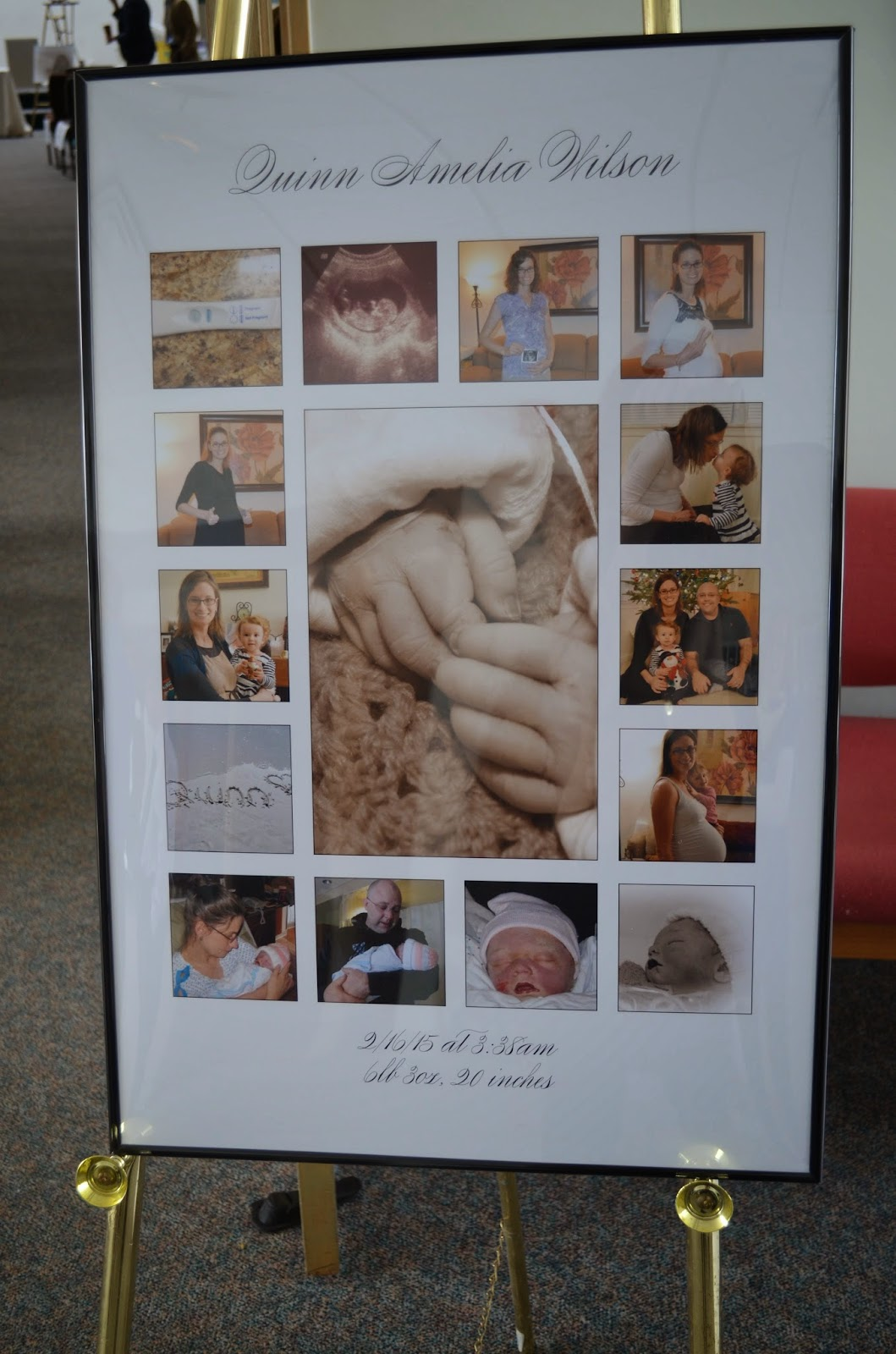 Baby's memorial poster