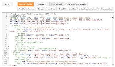 imagen edición html de plantilla expandida