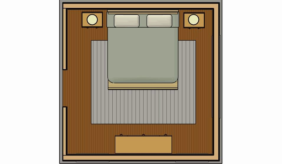 Now Here Is The Same Room With An 8x10 Rug. Much Better! The Proportions Of  The Rug With Regards To The Bed Is Good. The Rug Grounds And Frames The Bed  ...