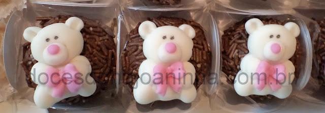 doces decorados para chá de bebê brigadeiro decorado com ursinho