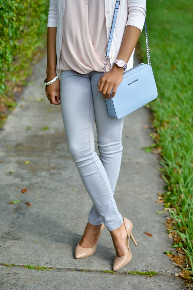 Grey & Blush | Spring Outfit Ideas