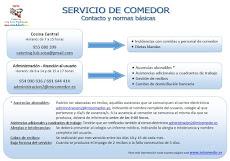 INFORMACIÓN IMPORTANTE DEL COMEDOR