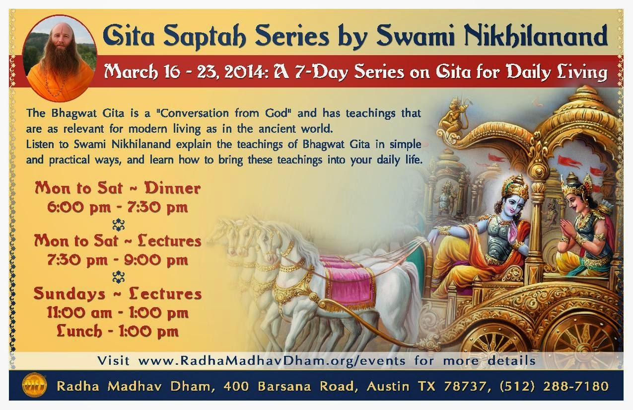 Gita Saptah Serses at Radha Madhav Dham after Kripalu Ji Maharaj's Holi 2014