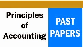 Principles of Accounting Past Papers