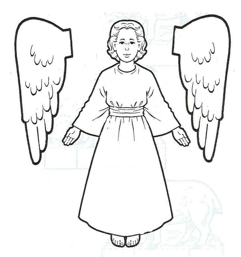 Free printable angel coloring for your kids for Angel coloring pages