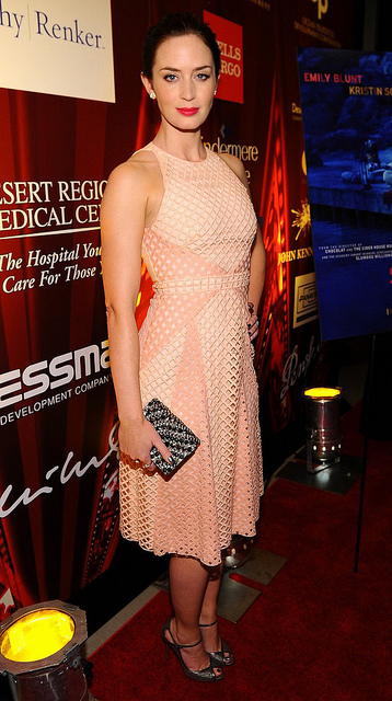 Emily Blunt at the Salmon Fishing In The Yemen premiere