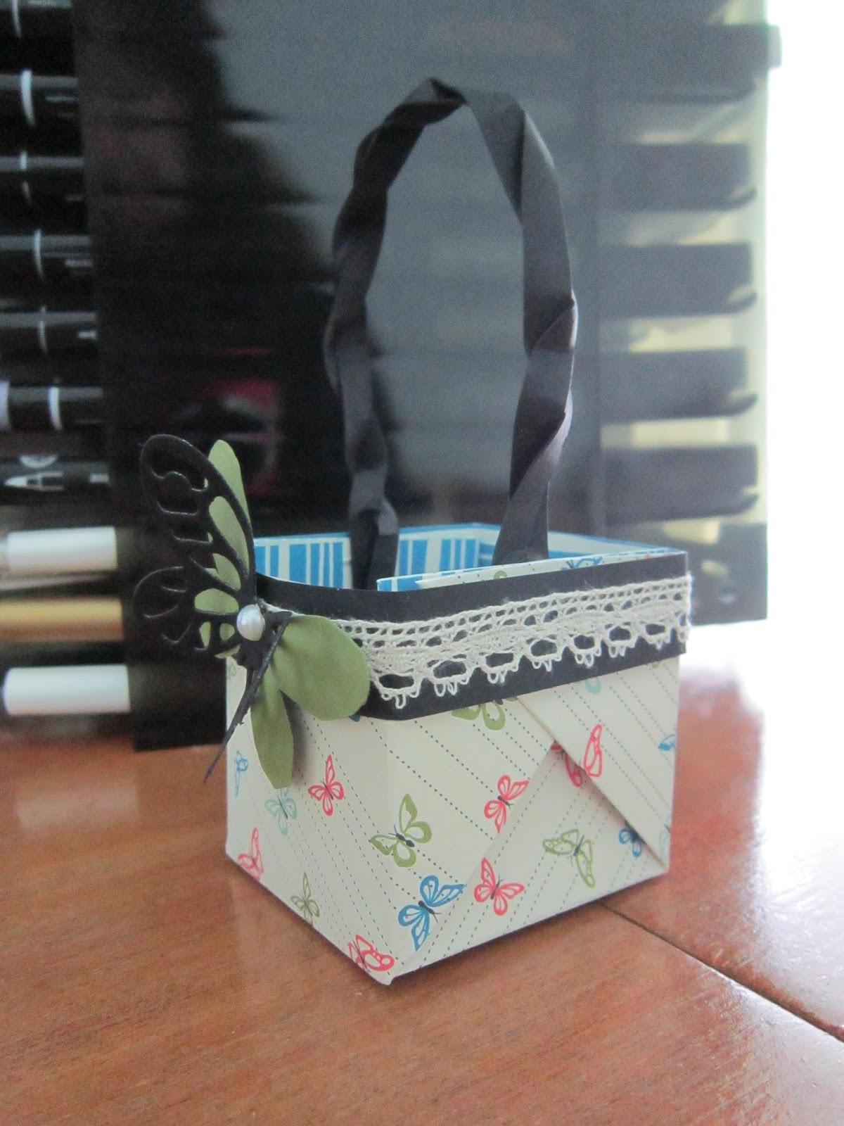 Krafting with karen 6x6 basket box for Bat box obi