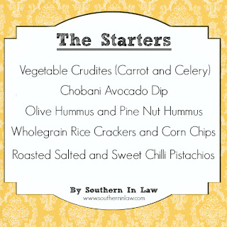 Healthy Party Menu - Gluten Free Starters and Vegan Appetisers