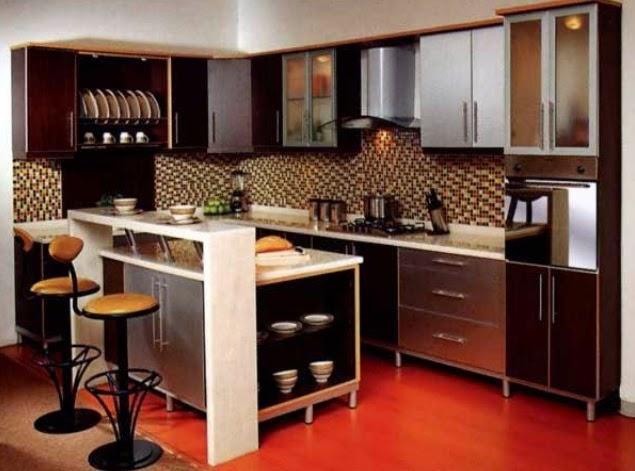contoh warna cat dapur coklat