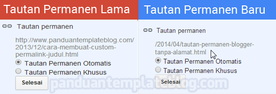 Tautan Permanen Blogger Tanpa Alamat Blog