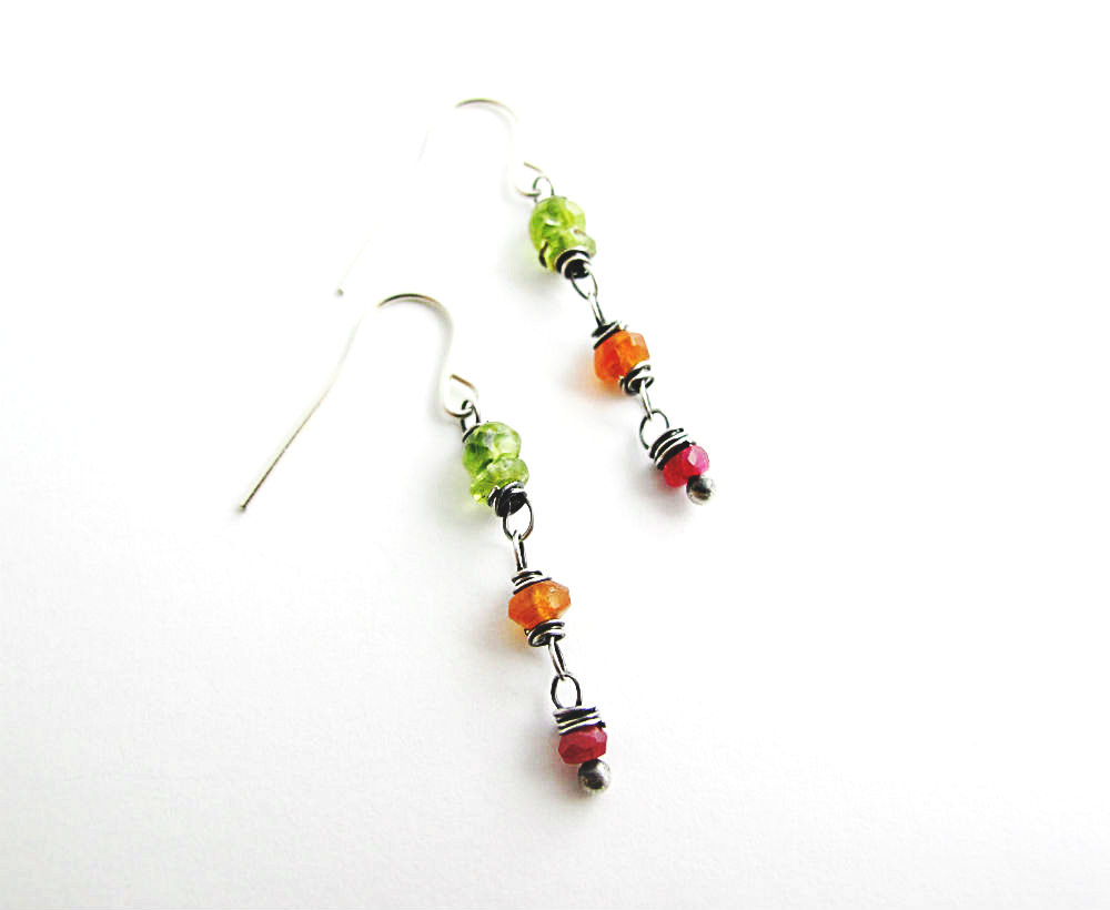 Firecracker Earrings by Beth Hemmila of Hint Jewelry