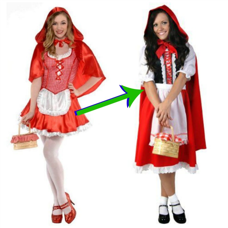 modest little red riding hood costume - Modest Womens Halloween Costumes