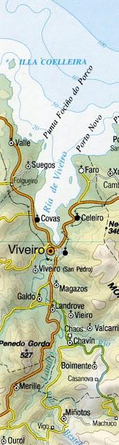 Más eucaliptos,  más   coníferas. Consecuencias de la sed de beneficio$ en la húmeda Galicia. El sector forestal. Mapa+Chavin_Viveiro