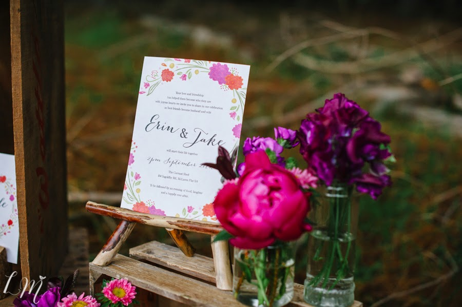 rustic bright wedding invitations adelaide australia sail and swan forest