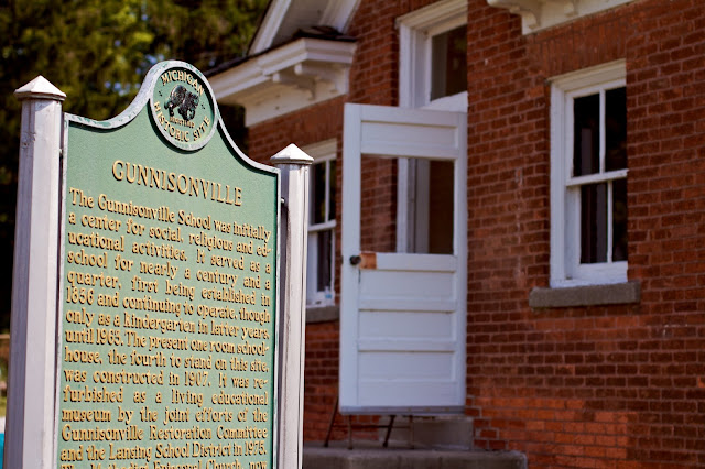 Gunnisonville School House tour. Lansing, Michigan. Photos by Tammy Sue Allen.