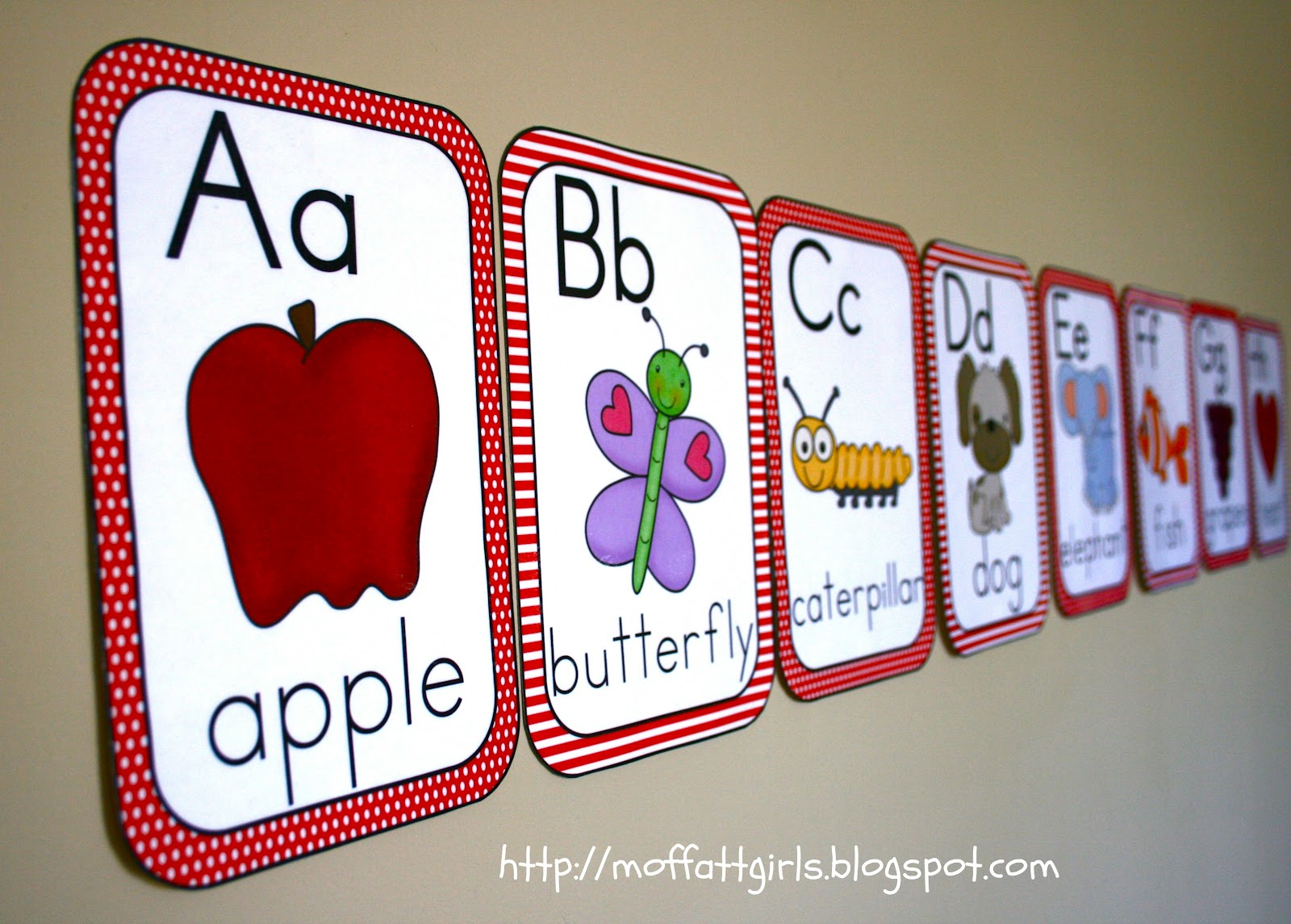 abc alphabet cards With abc letters for classroom