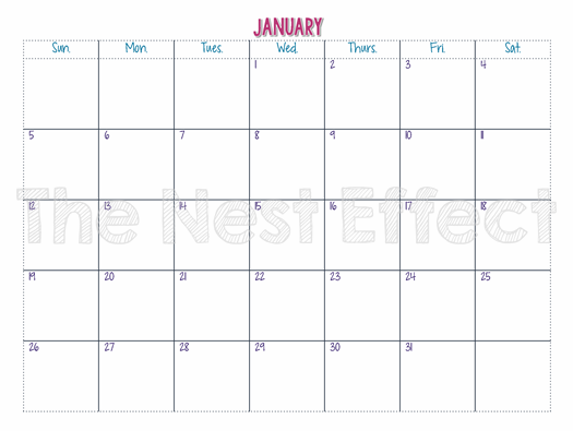 Horizontal Calendar Strip 2016 | Calendar Template 2016