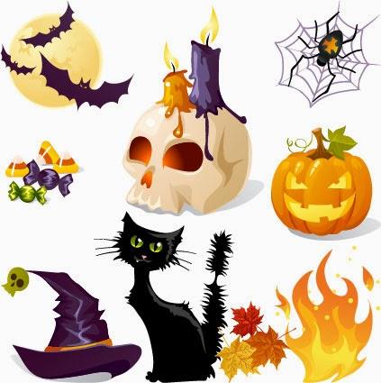 detalles de Halloween - vector