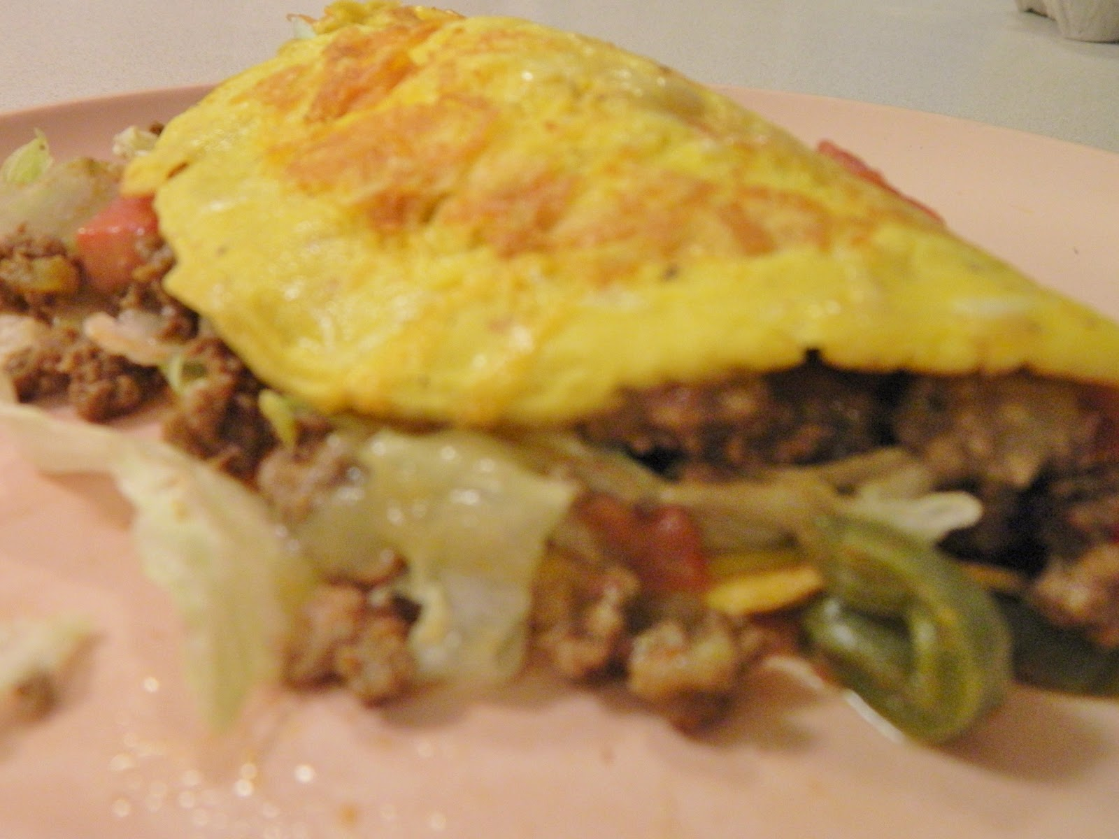 Ginny's Low Carb Kitchen: NOPALITO TACO OMELET