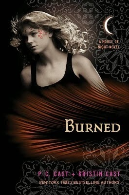 House of Night Series Burned by P.C. Cast and Kristin Cast border=