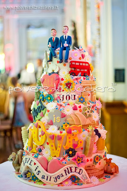 torta nuziale cake design: gay wedding cake, le foto ufficiali