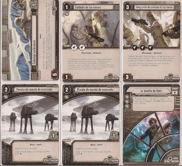 Expansión Star Wars LCG: Ciclo de Hoth - Asalto a la base Eco Sabotaje en la nieve
